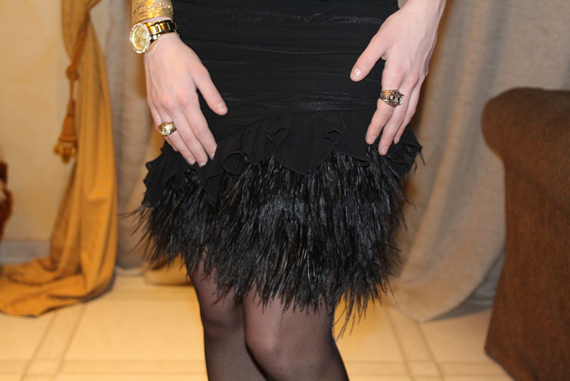 feather's skirt or feather dress