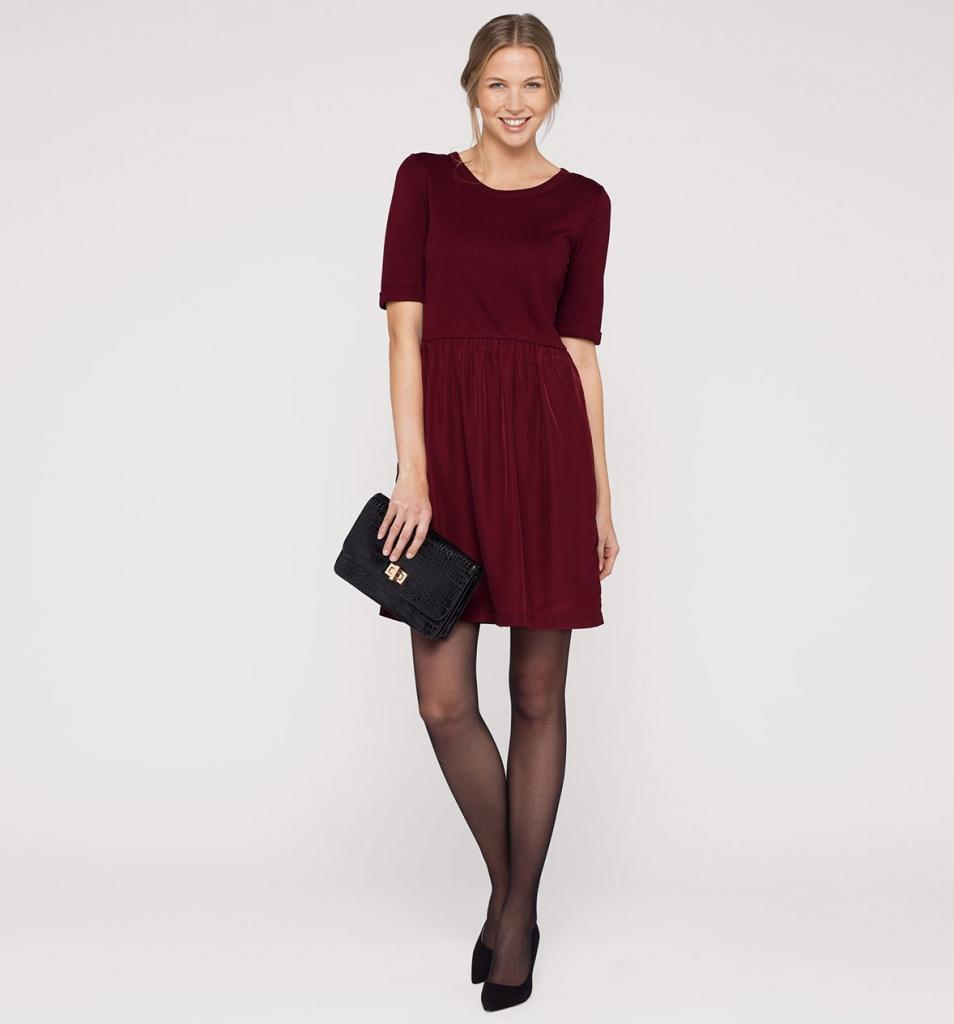 vestito rosso bordeaux