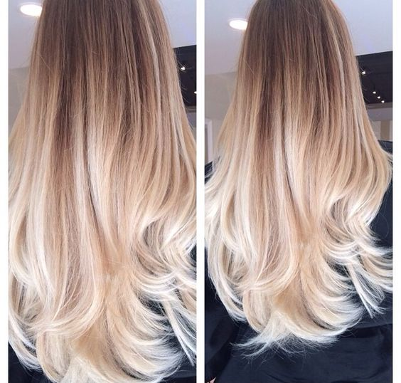 platinum ombre hair
