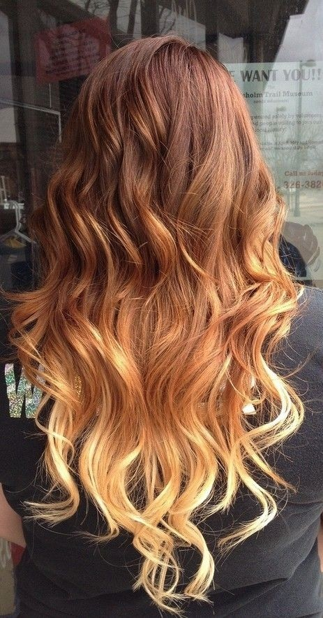 ginger ombre hair