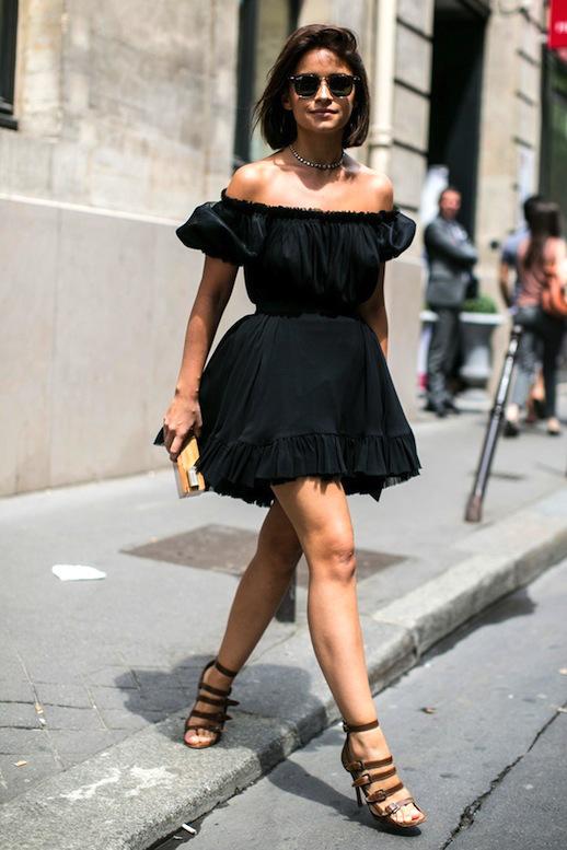 off-shoulder-ruffled-dress