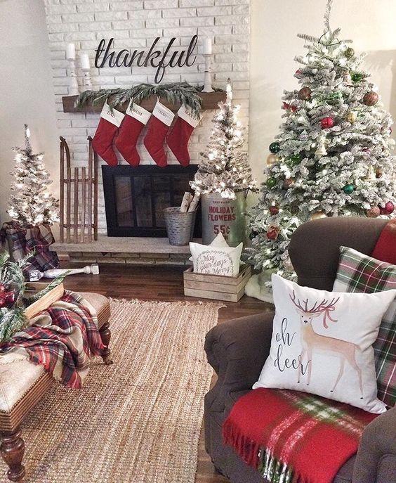 Come decorare Decorare il caminetto per natale