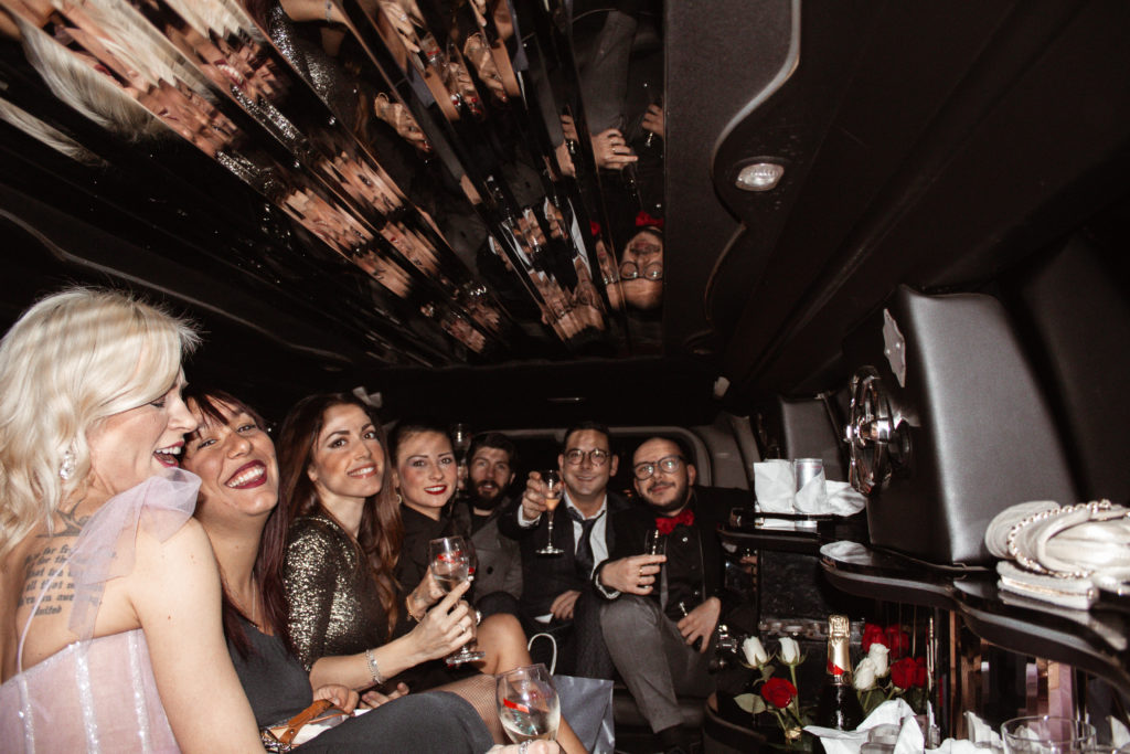 party in Hummer limousine
