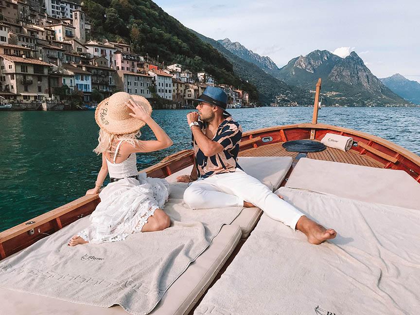 gita in barca lago di lugano